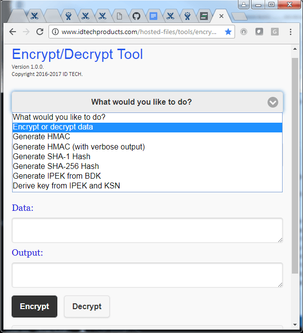 Tools for Payment Device Integration: Encrypt/Decrypt Tool - ID TECH