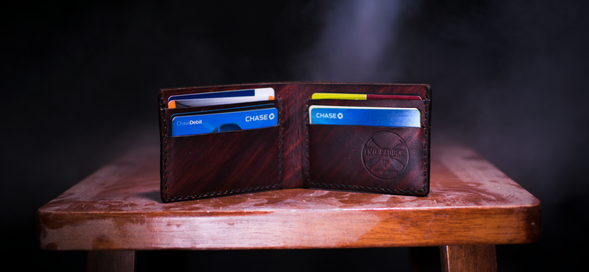 Picture of a wallet and various payment information
